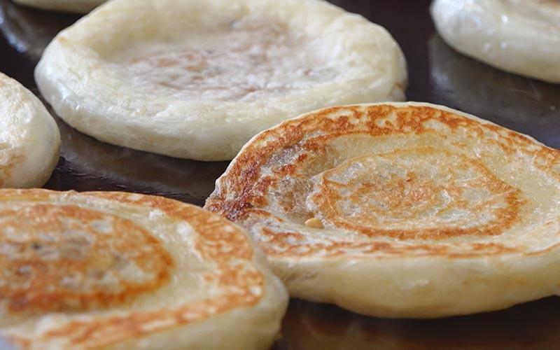 Pancake Coréen fourré au sirop de sucre brun
