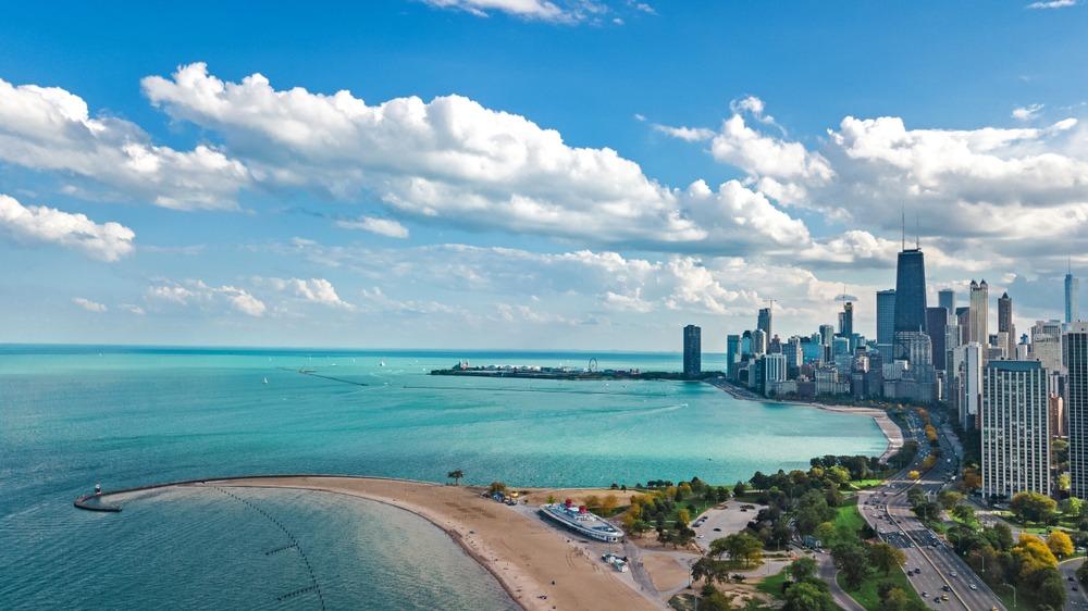Chicago sur les berges du lac Michigan