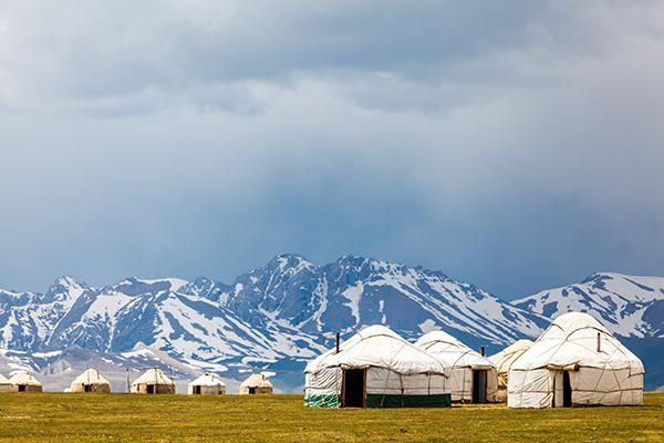 La yourte, tout un symbole pour le Kirghizistan
