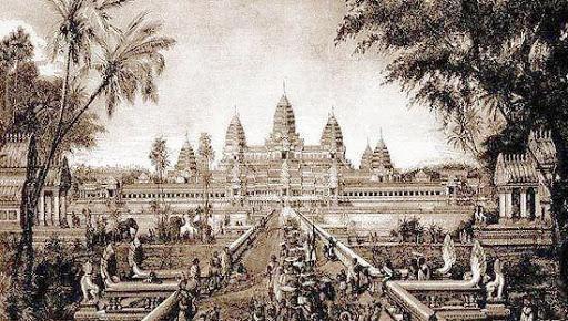Le temple d'Angkor Wat à l'époque de l'empire khmer.