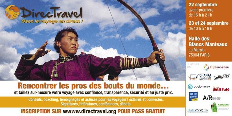 Salon DirecTravel à Paris du 22 au 24 septembre 2017