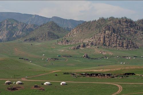 La plus faible densité de population en Mongolie