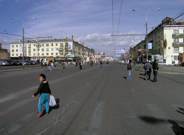 Manifestation dans les rues d'Ulaanbaatar